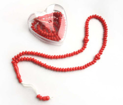 - Kalpli Kokulu Kırmızı Kutulu 99 Luk Tesbih