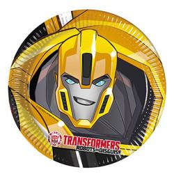 - Transformers Kağıt Tabak (23 cm) 8'li Paket
