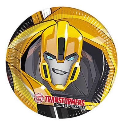 Transformers Kağıt Tabak (23 cm) 8'li Paket