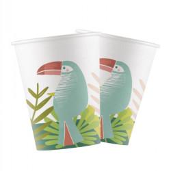 - Tropikal Parti Karton Bardak (8 oz / 200 cc) 8'li Paket