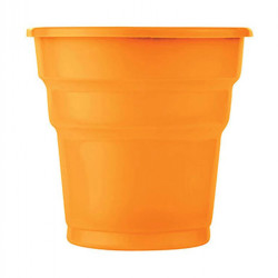 - Turuncu Plastik Meşrubat Bardağı (180 cc) 25'li Paket