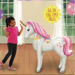 - Unicorn At Modeli Folyo Balon (106x116 cm)