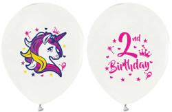 - Unicorn 2 Yaş Beyaz Balon 12 inç (25x30 cm) 100'lü Paket