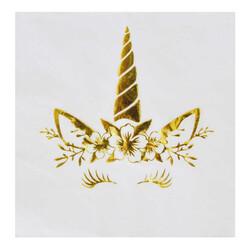 - Unıcorn Peçete Varaklı Altın 33x33 Cm Pk:16 Kl:24