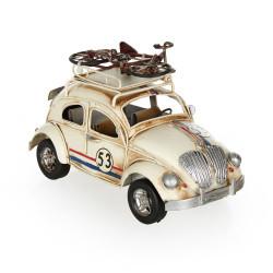 Volkswagen Beetle Classic Çerçeveli Metal Araba - Thumbnail