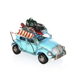 Volkswagen Beetle Classic Çerçeveli Tenteli Metal Araba - Thumbnail