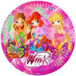 - Winx Butterflix Kağıt Tabak (23cm) 8'li Paket