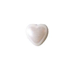 Yarım İnci Kalp Beyaz 10mm