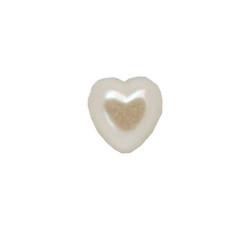 Yarım İnci Kalp Krem 10mm - Thumbnail