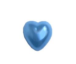 Yarım İnci Kalp Mavi 10mm - Thumbnail