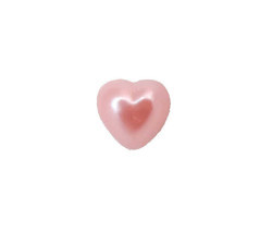 Yarım İnci Kalp Pembe 10mm - Thumbnail
