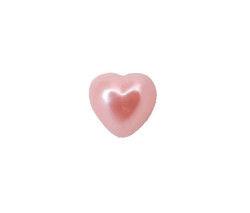 Yarım İnci Kalp Pembe 10mm