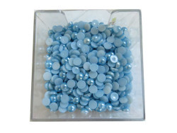 Yarım İnci Yuvarlak Mavi 12mm - Thumbnail