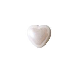 Yarım Kalp İnci Beyaz 12mm - Thumbnail