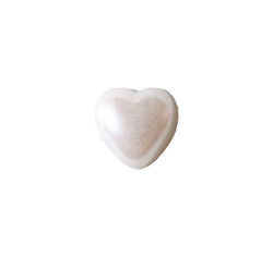 Yarım Kalp İnci Beyaz 12mm
