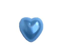 Yarım Kalp İnci Mavi 12mm - Thumbnail
