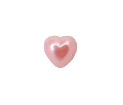 Yarım Kalp İnci Pembe 12mm - Thumbnail
