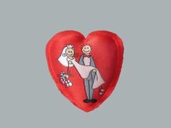 - Kalp Gelin Damat Resimli Yastık