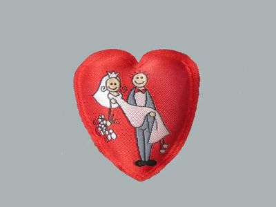 Kalp Gelin Damat Resimli Yastık