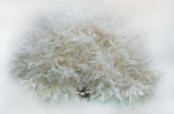 - Yelpaze Otriş Tüylü 65x35cm Beyaz