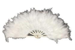 - Yelpaze Tüylü 65x35cm Beyaz