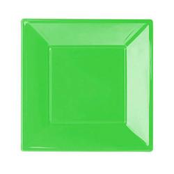 - Yeşil Büyük Plastik Kare Tabak (23x23 cm) 8'li Paket