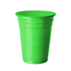- Yeşil Plastik Büyük Meşrubat Bardağı (266 cc) 8'li Paket