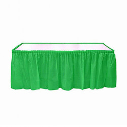 - Yeşil Plastik Masa Eteği (75x426 cm) 1'li Paket