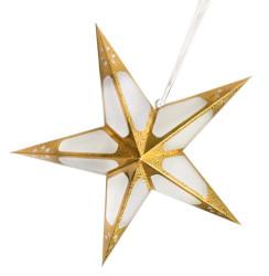 - Hologramlı Karton Yıldız 60 cm Altın
