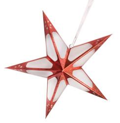 - Hologramlı Karton Yıldız 60 cm Kırmızı