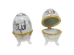 Yumurta Seramik Ayetli Allah C.C - Thumbnail