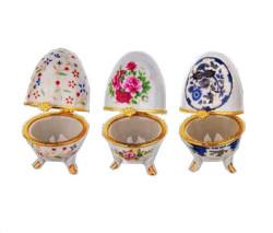 Yumurta Seramik Çiçekli - Thumbnail